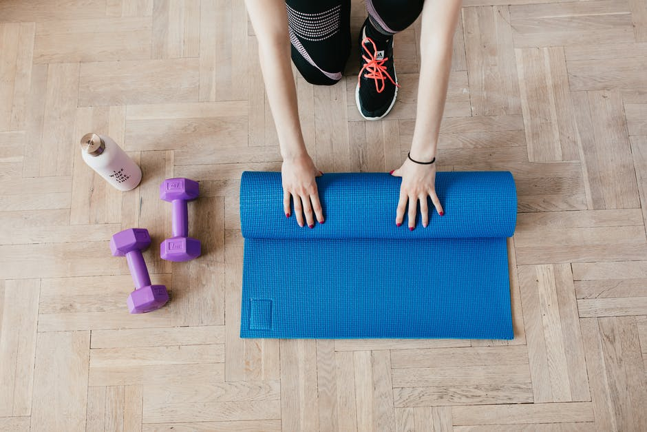 A woman joining physical fitness program